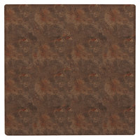 Grosfillex 99525051 X1 24 inch Square Lava Outdoor Molded Melamine Table Top