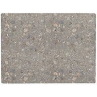 Grosfillex 99531002 X1 24 inch x 32 inch Rectangular Tokyo Stone Outdoor Molded Melamine Table Top
