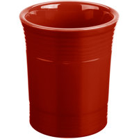 Homer Laughlin 447326 Fiesta Scarlet 6 5/8 inch Utensil Crock - 4/Case