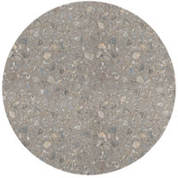 Grosfillex 99832002 X1 30 inch Round Tokyo Stone Outdoor Molded Melamine Table Top