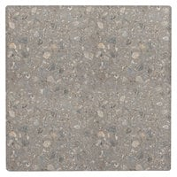Grosfillex UT210781 X1 24 inch Square Tokyo Stone Outdoor Molded Melamine Table Top