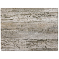 Grosfillex 99531246 X1 24 inch x 32 inch Rectangular Barn White Outdoor Molded Melamine Table Top
