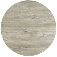 Grosfillex 99832071 X1 30 inch Round White Oak Outdoor Molded Melamine Table Top