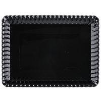 Fineline 293-BK Flairware 9 inch x 13 inch Black Plastic Rectangular Tray - 48/Case