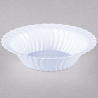 Fineline 211-WH Flairware 10 oz. White Plastic Bowl - 180/Case
