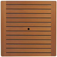 Grosfillex 99870108 36 inch Square Teak Outdoor Molded Melamine Table Top with Umbrella Hole