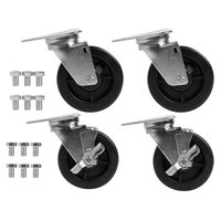 Blodgett 5799 Equivalent 5 inch Swivel Plate Casters - 4/Set
