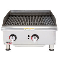 APW Wyott GCB-24i Champion Radiant 24 inch Charbroiler with Safety Pilot - 80,000 BTU