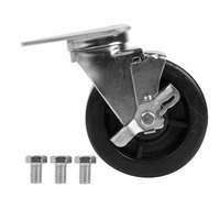 5 inch Swivel Plate Caster with Brake