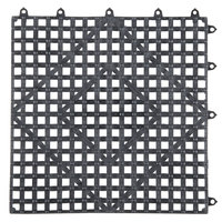 Choice 12 inch x 12 inch Black Interlocking Bar Mat