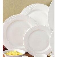 CAC RSV-6 Roosevelt 6 1/4 inch Super White Porcelain Plate - 36 / Case