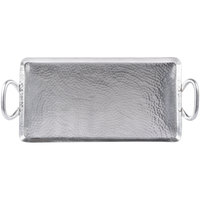 American Metalcraft G21 21 3/4 inch x 9 inch Small Rectangular Hammered Stainless Steel Griddle