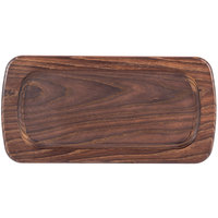 American Metalcraft AWB147 14 inch x 7 inch Rimmed Ash Wood Serving Board