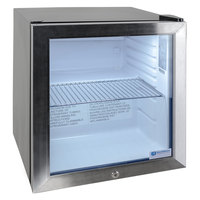 Excellence EMM-2HC Black Countertop Display Refrigerator with Swing Door - 1.8 cu. ft.