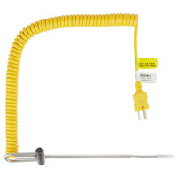 Cooper-Atkins 50336-K -40 to 500 Degrees Fahrenheit Type-K 6 inch DuraNeedle Insertion Probe with Coil Cable and 0.85 inch Tip