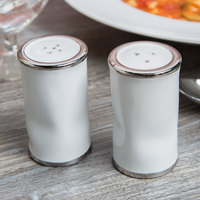 American Metalcraft CPSP 2 oz. Ceramic Crushed Paint Can Salt and Pepper Shaker Set