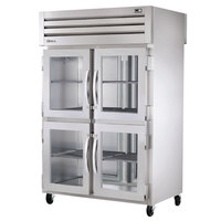 True STA2RPT-4HG-2S-HC Specification Series 52 5/8 inch Half Glass Front, Full Solid Back Pass-Through Refrigerator