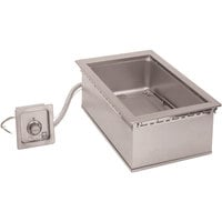 Wells HW-SMP6D 12 inch x 20 inch Drop-In Cook and Hold Hot Food Well with Drain