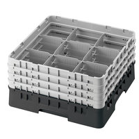 Cambro 9S318110 Black Camrack 9 Compartment 3 5/8 inch Glass Rack