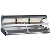 Alto-Shaam ED2-72/2S BK Black Two-Tiered Heated Display Case with Curved Glass - Self Service 72 inch