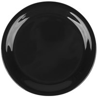 Carlisle 3300803 Sierrus 6 1/2 inch Black Narrow Rim Melamine Pie Plate - 48/Case