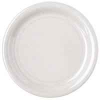 """Carlisle 4300871 Durus 6 1/2"""" Sand Narrow Rim Melamine Plate - 48/Case"""