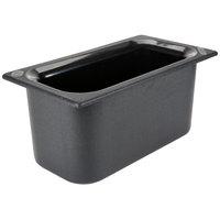 Carlisle CM110203 Coldmaster 1/3 Size Black Cold ABS Plastic Food Pan - 6 inch Deep