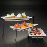 American Metalcraft TTREC3 Ironworks Three-Tier Foldable Rectangular Display Stand