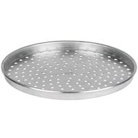American Metalcraft PHA90141.5 14 inch x 1 1/2 inch Perforated Heavy Weight Aluminum Tapered / Nesting Pizza Pan