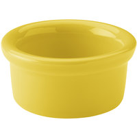 Hall China 30363320 Sunflower 3.5 oz. Colorations Round China Ramekin - 36/Case