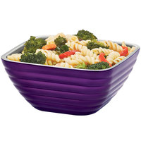 Vollrath 4763265 Double Wall Square Beehive1.8 Qt. Serving Bowl - Passion Purple