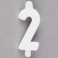 3/4 inch White Molded Plastic Number 2 Deli Tag Insert - 50/Set