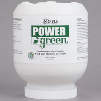 Noble Chemical 8 lb. / 128 oz. Power Green Environmentally Friendly Solid Dish Machine Detergent - 4/Case