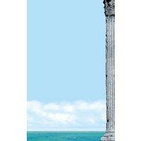 8 1/2 inch x 11 inch Menu Paper Right Insert - Mediterranean Themed Parthenon Design - 100/Pack