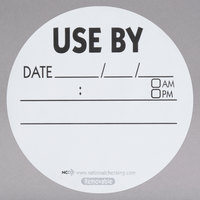 National Checking Company RUB3R 3 inch Use By Removable Label   - 500/Roll