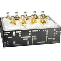 Cal-Mil 1603-12-13 Squared Black Ice Housing with Clear Pan - 21 inch x 12 1/2 inch x 6 1/2 inch