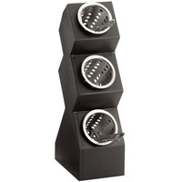 Cal-Mil 1016-3-96 Midnight Three Compartment Vertical Display