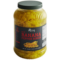 Regal Foods Hot Banana Pepper Rings 1 Gallon - 4/Case