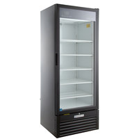 Beverage-Air LV23-1-B-LED LumaVue 27 inch Black Refrigerated Glass Door Merchandiser with LED Lighting - 23 Cu. Ft.