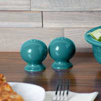 Homer Laughlin 497107 Fiesta Turquoise Salt and Pepper Set - 4/Case