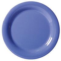 GET NP-6-PB Diamond Mardi Gras 6 1/2 inch Peacock Blue Narrow Rim Round Melamine Plate - 48/Case