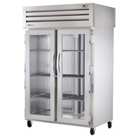 True STG2RPT-2G-2S-HC Specification Series 52 5/8 inch Glass Front, Solid Back Door Pass-Through Refrigerator