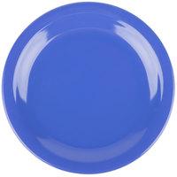 Carlisle 4350314 Dallas Ware 7 1/4 inch Ocean Blue Melamine Plate - 48/Case