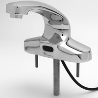 T&S EC-3102 Single Hole Deck Mounted ChekPoint Electronic Hands Free Faucet with Cast Spout ADA Compliant