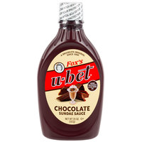 Fox's U-Bet 20 oz. Squeeze Bottle Chocolate Sundae Sauce