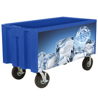 IRP Blue Extra Large Super Arctic 080 Mobile 456 Qt. Cooler with Wheels