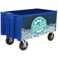 IRP Blue Extra Large Super Arctic 3501547 Mobile 456 Qt. Cooler with Wheels
