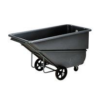 Continental 5835BK 1.1 Cubic Yard Black Tilt Truck / Trash Cart (2000 lb.)
