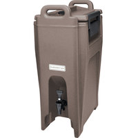 Cambro UC500194 Ultra Camtainer 5.25 Gallon Granite Sand Insulated Beverage Dispenser