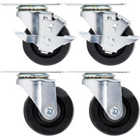 Beverage-Air 00C31-031ABB 3 inch Plate Casters - 4/Set